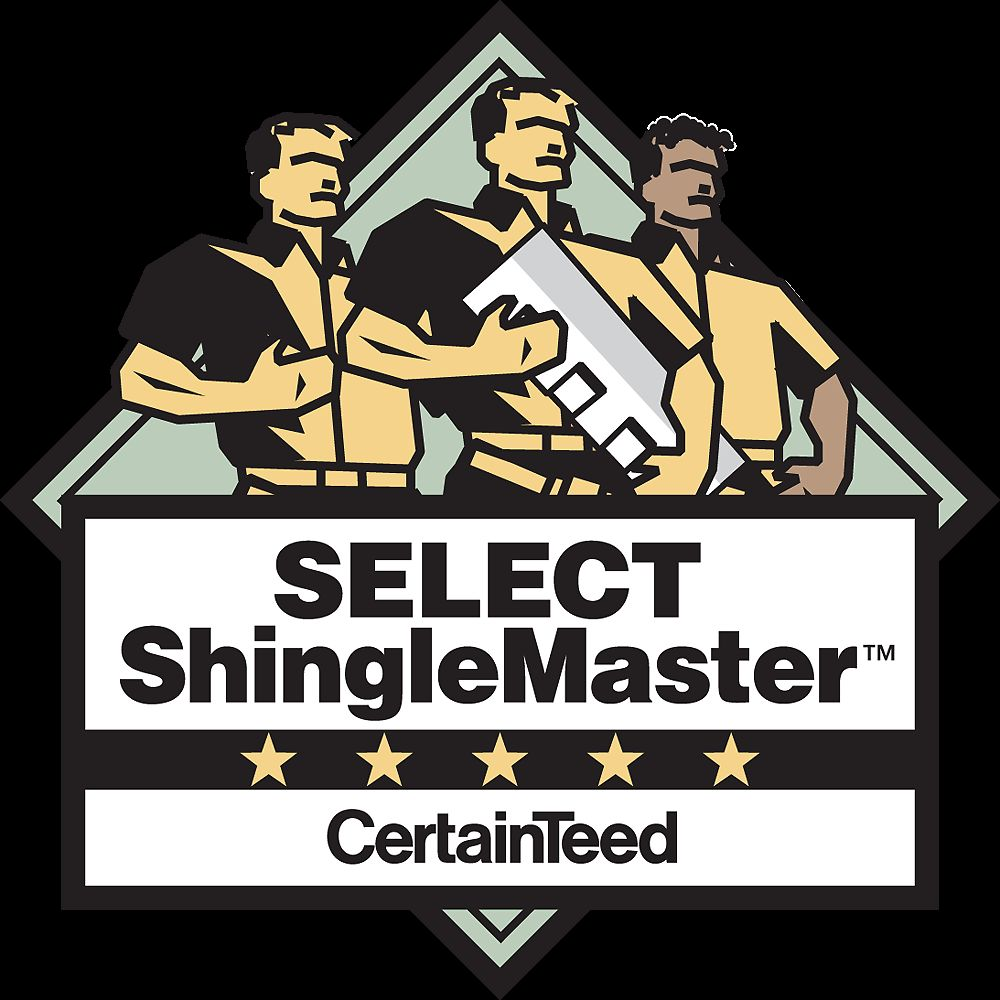 Rest easy, we are CertainTeed SELECT Shingle Master certified.