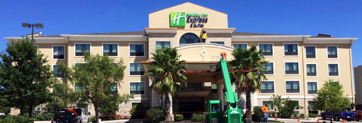 Austin Commercial Roof Repair Project Holiday Inn West